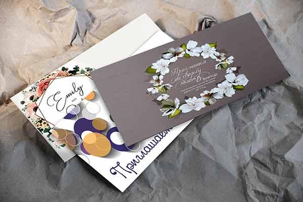 конверты, печать на конвертах, визитки, приглашения, печать визиток, печать на конвертах, напечатать приглашения, приглашения на свадьбу