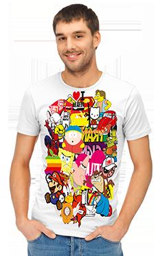 сублимация, печать на футболках, сублимация на ткани