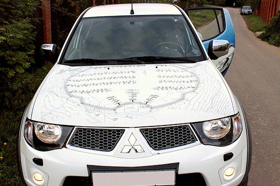 Оклейка автомобиля Mitsubishi